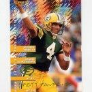 1995 FACT Fleer Shell Football #012 Brett Favre - Green Bay Packers ExMt