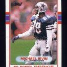 1989 Topps Football #383 Michael Irvin RC - Dallas Cowboys