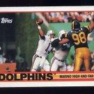 1989 Topps Football #290 The Miami Dolphins Team / Dan Marino