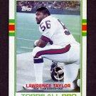 1989 Topps Football #166 Lawrence Taylor - New York Giants