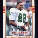 1989 Topps Football #107 Keith Jackson RC - Philadelphia Eagles