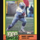 1990 Topps Football 1000 Yard Club #03 Barry Sanders - Detroit Lions