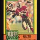 1990 Topps Football 1000 Yard Club #01 Jerry Rice - San Francisco 49ers
