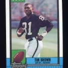 1990 Topps Football #295 Tim Brown - Los Angeles Raiders