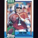 1990 Topps Football #037 John Elway - Denver Broncos