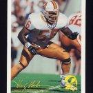 1994 FACT Fleer Shell Football #88 Hardy Nickerson - Tampa Bay Buccaneers