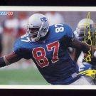 1994 FACT Fleer Shell Football #49 Ben Coates - New England Patriots