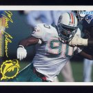 1994 FACT Fleer Shell Football #47 Marco Coleman - Miami Dolphins