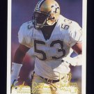 1994 FACT Fleer Shell Football #21 Vaughan Johnson - New Orleans Saints