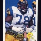 1994 FACT Fleer Shell Football #16 Jackie Slater - Los Angeles Rams