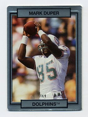1990 Action Packed Football #143 Mark Duper - Miami Dolphins