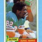 1981 Topps Football #527 Duriel Harris - Miami Dolphins