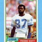 1981 Topps Football #463 Freddie Scott - Detroit Lions NM-M