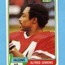 1981 Topps Football #448 Alfred Jenkins - Atlanta Falcons NM-M
