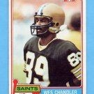 1981 Topps Football #428 Wes Chandler - New Orleans Saints