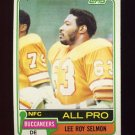 1981 Topps Football #410 Lee Roy Selmon - Tampa Bay Buccaneers Vg