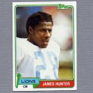 1981 Topps Football #409 James Hunter - Detroit Lions ExMt
