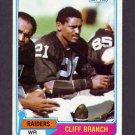 1981 Topps Football #403 Cliff Branch - Oakland Raiders VgEx