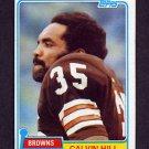 1981 Topps Football #398 Calvin Hill - Cleveland Browns Ex