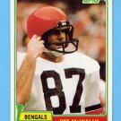 1981 Topps Football #383 Pat McInally - Cincinnati Bengals