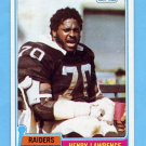 1981 Topps Football #382 Henry Lawrence - Oakland Raiders