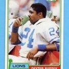 1981 Topps Football #362 Dexter Bussey - Detroit Lions NM-M