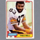 1981 Topps Football #351 Theo Bell - Pittsburgh Steelers ExMt