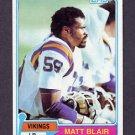 1981 Topps Football #346 Matt Blair - Minnesota Vikings Vg