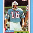 1981 Topps Football #345 Toni Fritsch - Houston Oilers