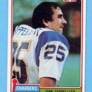 1981 Topps Football #337 John Cappelletti - San Diego Chargers NM-M