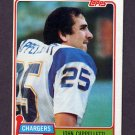 1981 Topps Football #337 John Cappelletti - San Diego Chargers VgEx