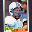 1981 Topps Football #323 Bob Kuechenberg - Miami Dolphins