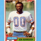 1981 Topps Football #301 Ken Burrough - Houston Oilers