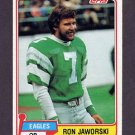 1981 Topps Football #280 Ron Jaworski - Philadelphia Eagles