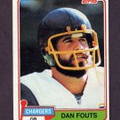 1981 Topps Football #265 Dan Fouts - San Diego Chargers Vg