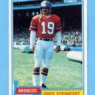 1981 Topps Football #262 Fred Steinfort - Denver Broncos