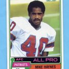 1981 Topps Football #230 Mike Haynes - New England Patriots