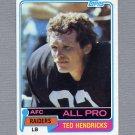 1981 Topps Football #200 Ted Hendricks - Oakland Raiders Ex