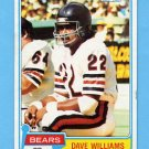 1981 Topps Football #193 Dave Williams - Chicago Bears