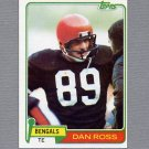 1981 Topps Football #192 Dan Ross RC - Cincinnati Bengals ExMt