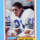 1981 Topps Football #167 Dave Brown - Seattle Seahawks