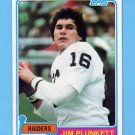 1981 Topps Football #135 Jim Plunkett - Oakland Raiders NM-M