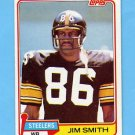 1981 Topps Football #131 Jim Smith - Pittsburgh Steelers