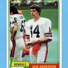 1981 Topps Football #115 Ken Anderson - Cincinnati Bengals NM-M