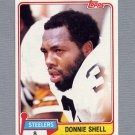 1981 Topps Football #090 Donnie Shell - Pittsburgh Steelers ExMt