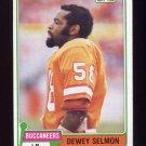 1981 Topps Football #068 Dewey Selmon - Tampa Bay Buccaneers Vg