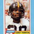 1981 Topps Football #061 Sidney Thornton - Pittsburgh Steelers