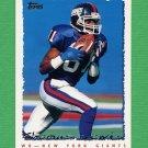 1995 Topps Football #399 Thomas Lewis - New York Giants