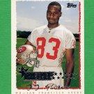 1995 Topps Football #227 J.J. Stokes RC - San Francisco 49ers