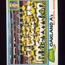 1981 Topps Baseball #671 Oakland A's Team Checklist / Billy Martin MG ExMt